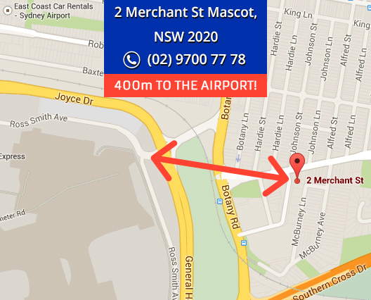 Sydney Airport Domestic International Car Parking map
