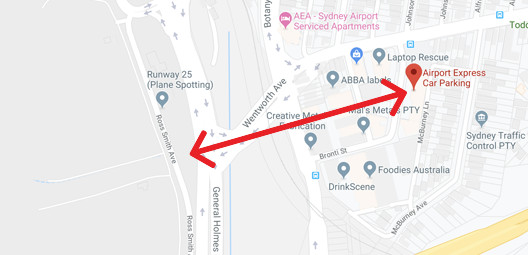 Airport Parking Sydney Map